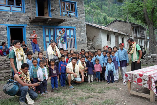 The school children from the village of Wapsa