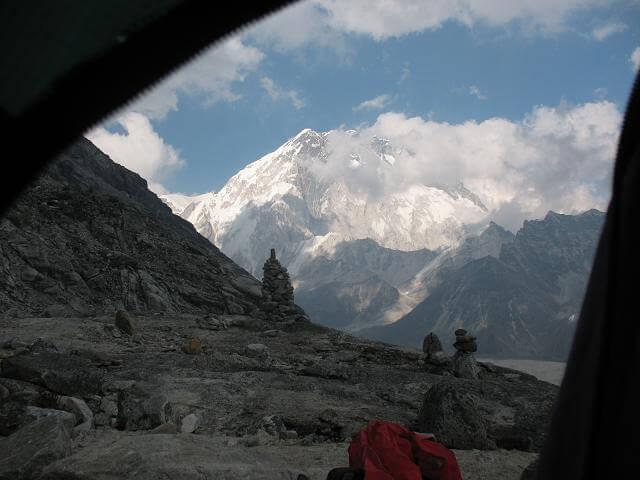 Utsikt från tältet - high camp Lobuche Peak