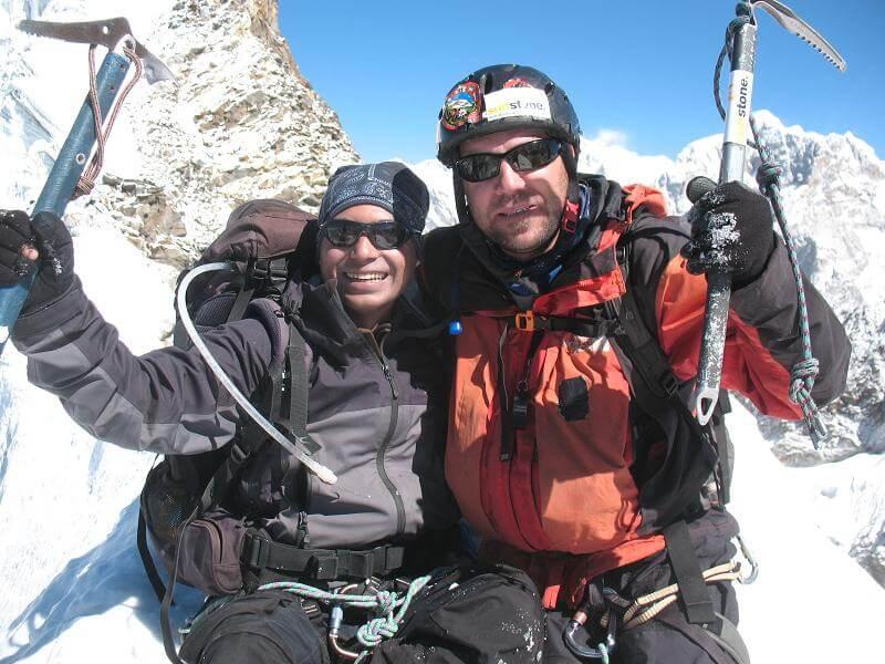 Saran och Paul - glada klättrare!
