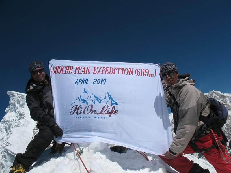 Hi On Life på Lobuche Peak