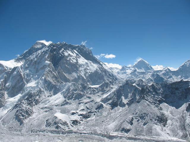 Everest, Nuptse, Lothse och Makalu