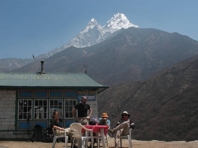 En härlig paus bland Himalayas toppar