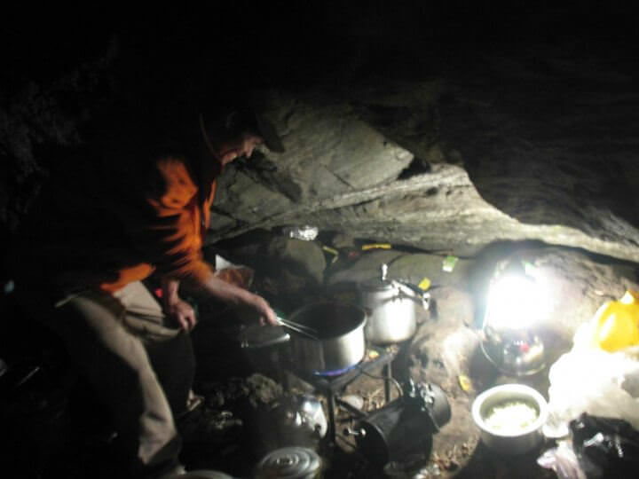 Matlagning i lägret