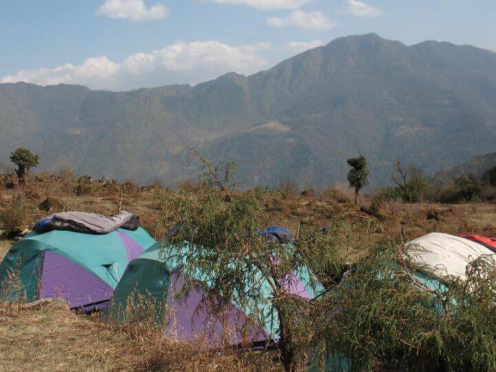 Vår härliga tältplats som inte görs rättvisa på foto