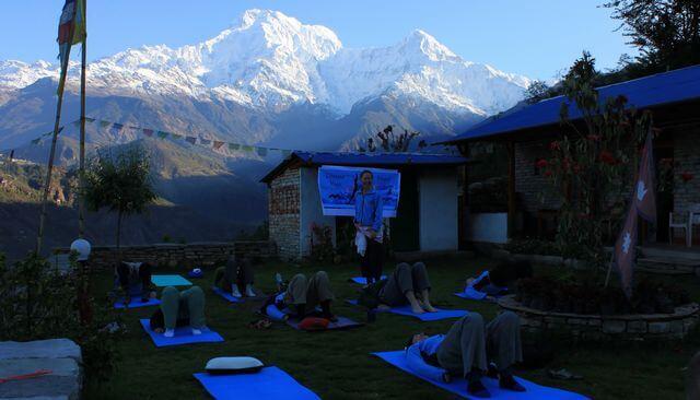 Yoga i gryningen