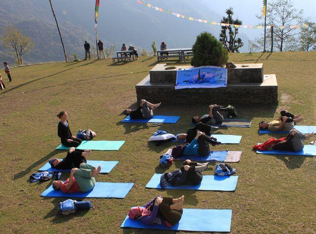 Yogapass i Chuile, Annapurna Foothills Nepal