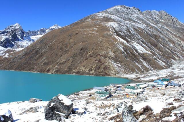 Byn Gokyo och Gokyo Ri - Kand utkikspunkt for bla Mount Everest