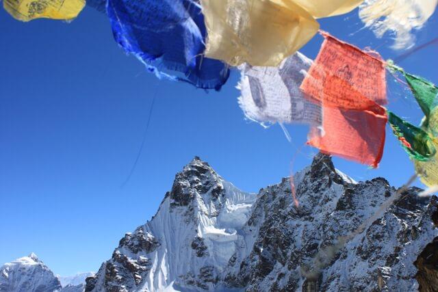 Vyer fran Renjo La, Nepal