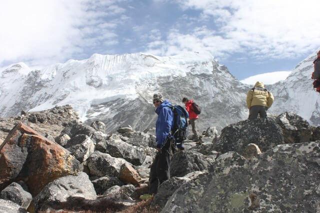 Pa vag upp till Island Peak High Camp