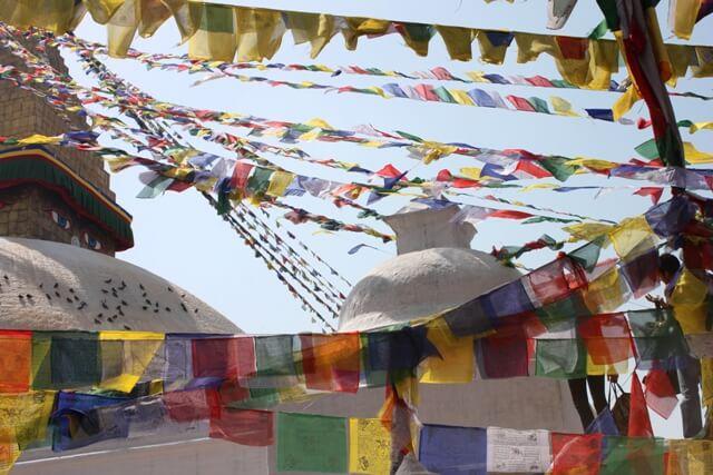 Boneflaggorna fladdrandes i vinden, Kathmandu