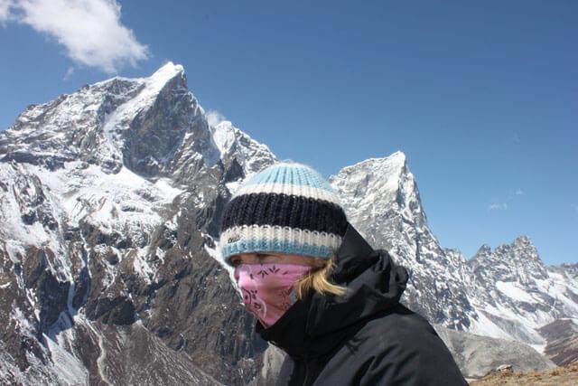 Susanna hogt uppe bland Himalayas jattar