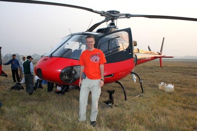 Michael framfor var Helikopter