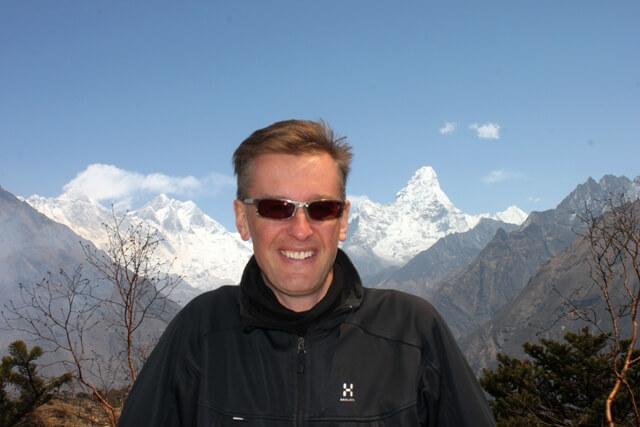 Michael framfor Everest