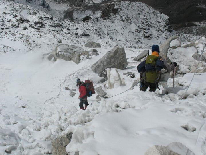 Dags att gå ner alla höjdmeter vi för ett par dagar sedan klättrat upp för