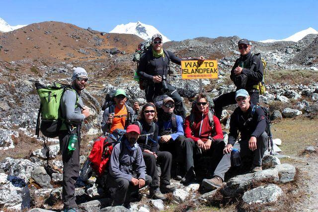 Just det - Island Peak var det vi skulle till!