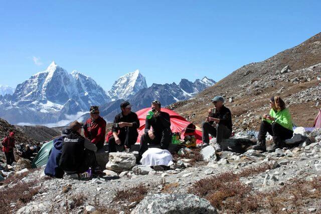 Framme i Island Peak Base Camp