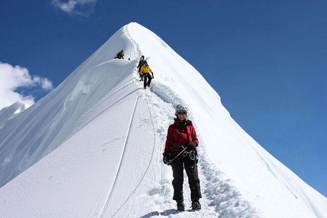 """Och så ner igen... """"Island Peak Summit Ridge"""""""