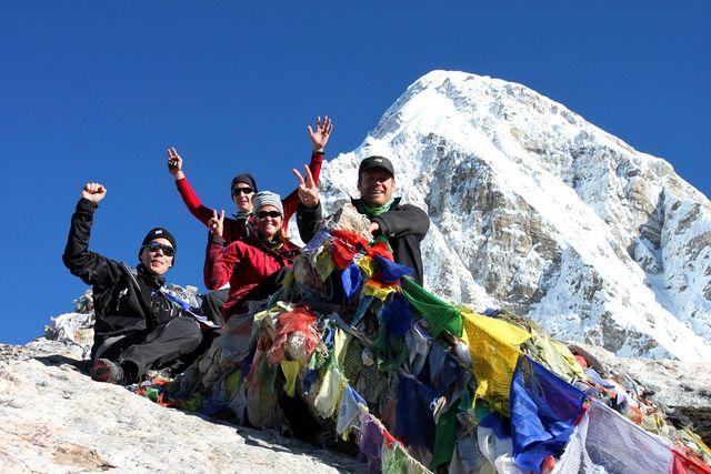 På toppen av Kala Pathar - 5 545 möh!!
