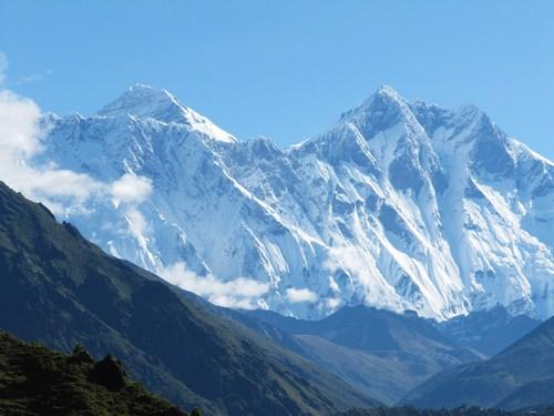 Första glimten av Everest