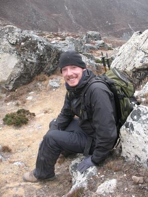 Expeditionsmedlem Dan Ekström