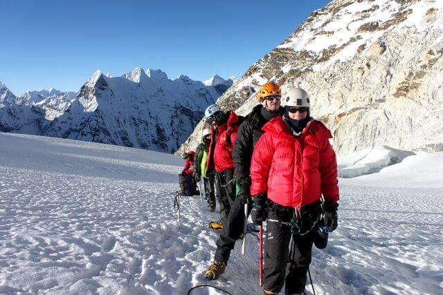 Glaciärvandring Island Peak