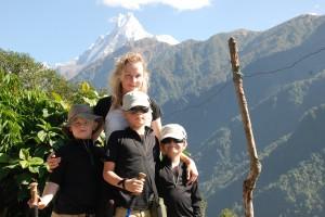 ta med barnen på en vandring i Nepal - Anna, Folke, Ivar & Jarl