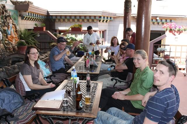 Lunch pa Hotel Tibet