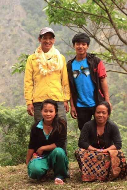 Dil and his family. Their youngest son, the multi talented guy was in school, so he is not in the pic