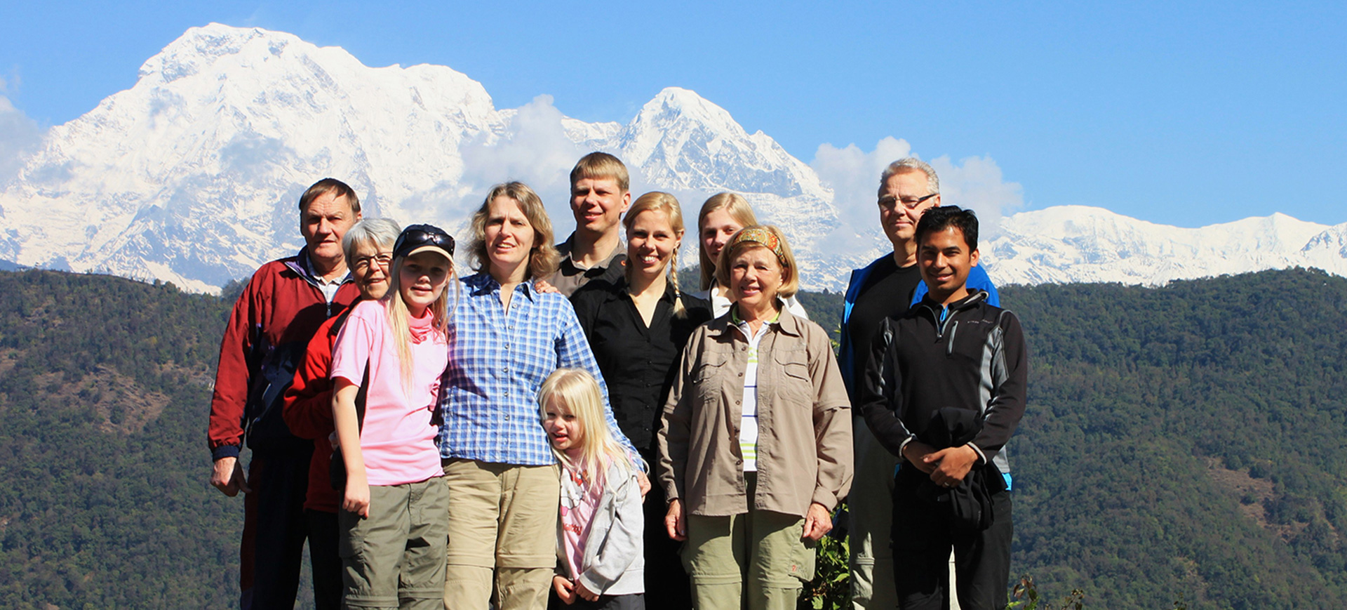 package family trek Annapurna foothills